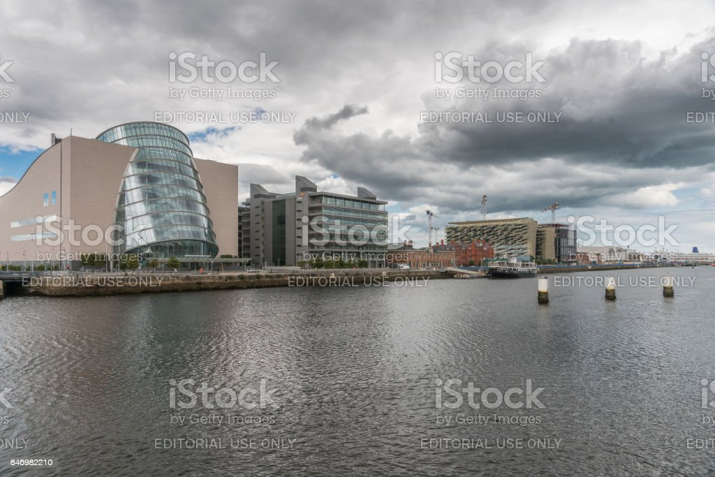 Convention Center and more in Dublin, Ireland. stock photo
