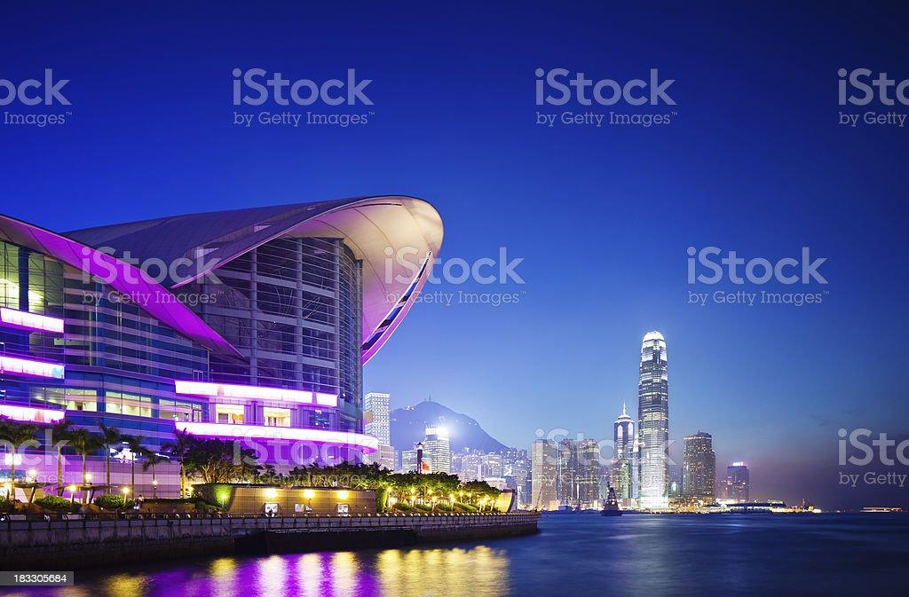 Convention Center, Hong Kong stock photo