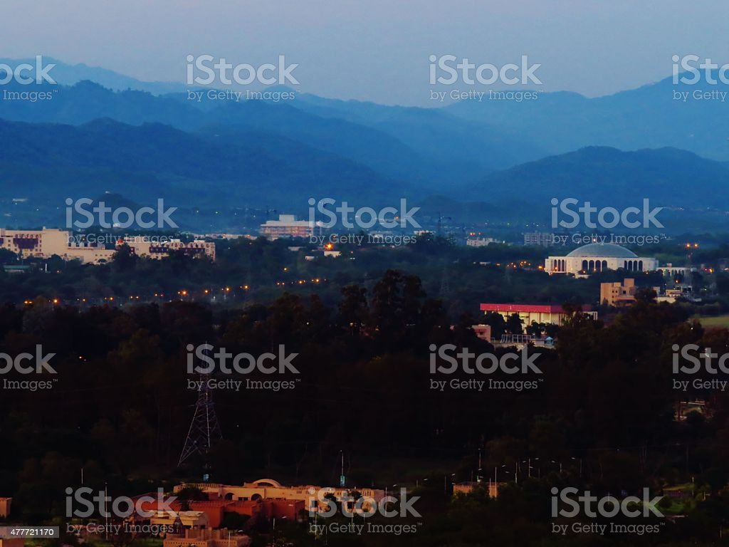 Convention Center Islamabad stock photo