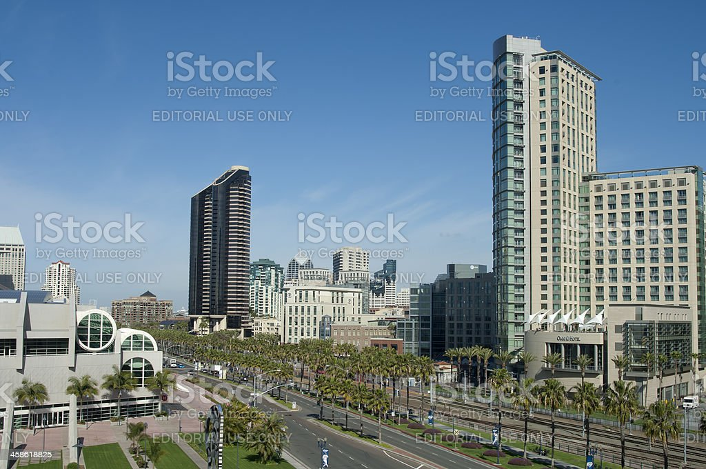 Convention Center View with Omni Hotel stock photo