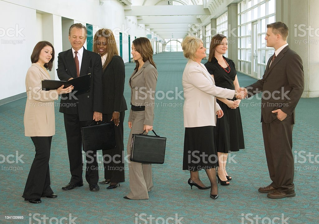 Convention Group stock photo