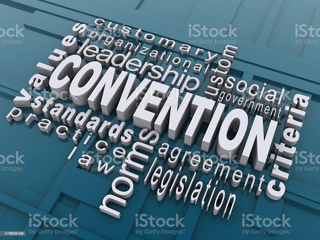 Convention stock photo