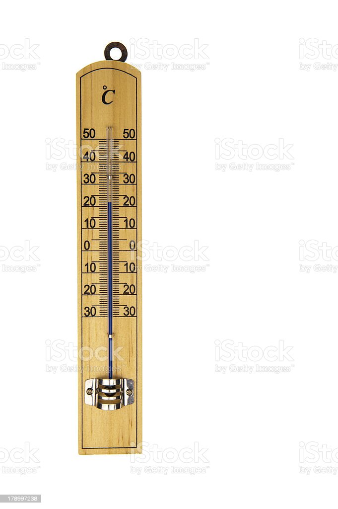 Conventional thermometer isolated in white royalty-free stock photo