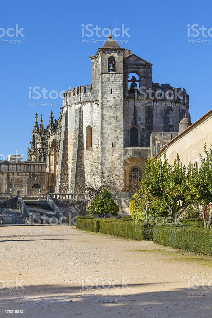 Convento de Christo Monastery, Tomar, Portugal royalty-free stock photo