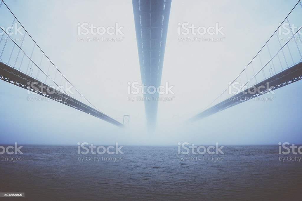 Converge in the Fog royalty-free stock photo