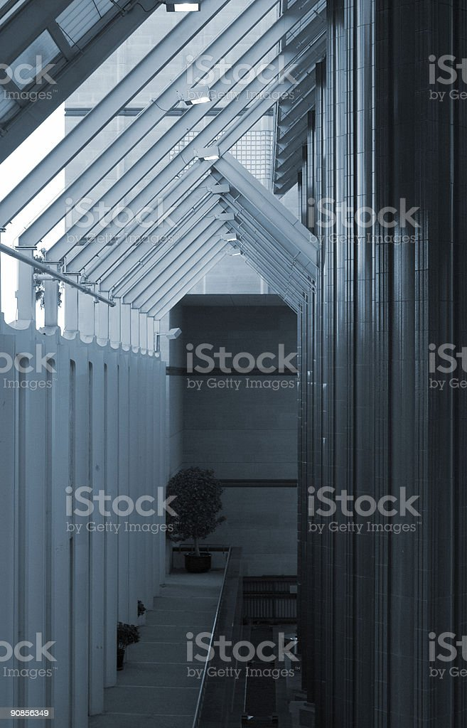 convergence of colums stock photo