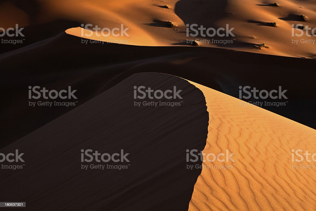 converging dunes royalty-free stock photo
