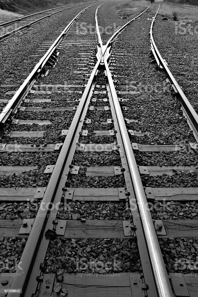 Converging Tracks royalty-free stock photo