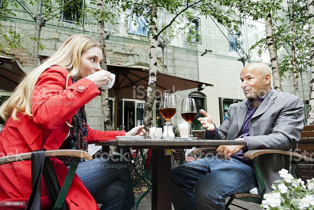 Conversation at Cafe royalty-free stock photo