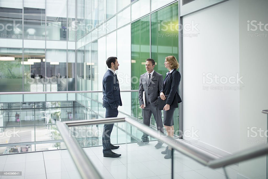 Conversation in the lobby royalty-free stock photo