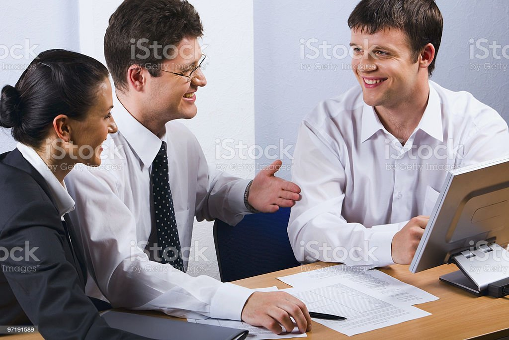 Conversation of  business people royalty-free stock photo
