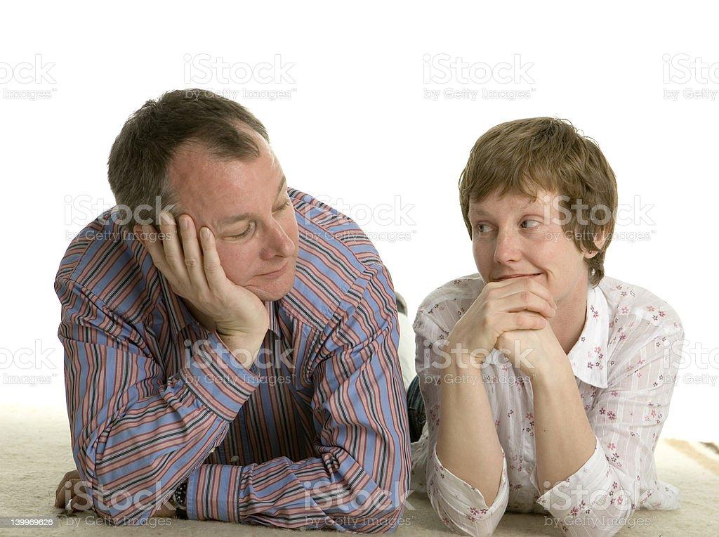 Conversation on the floor royalty-free stock photo