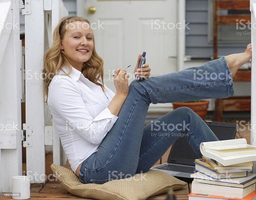 PDA conversation royalty-free stock photo