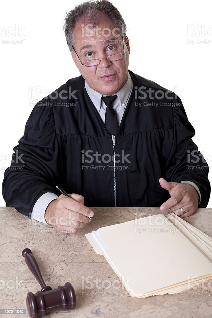 Conversation with judge royalty-free stock photo