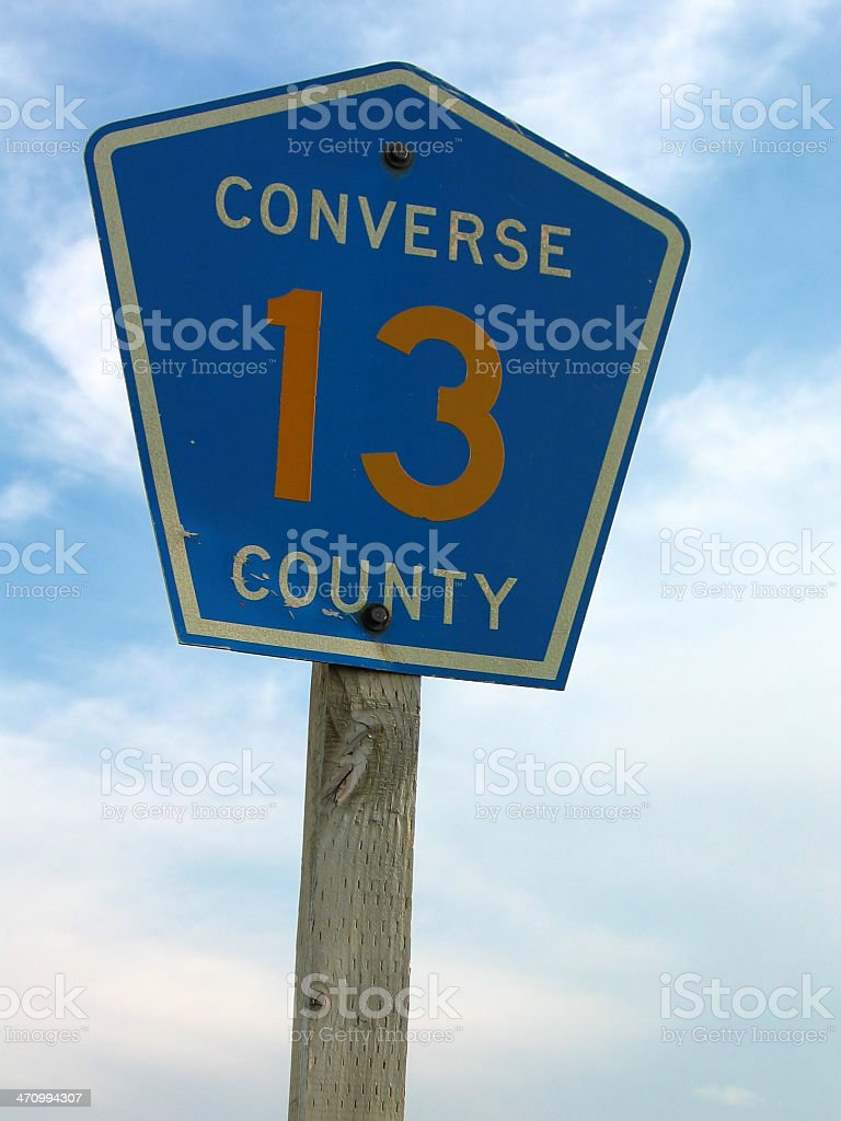 Converse Country Highway 13 stock photo