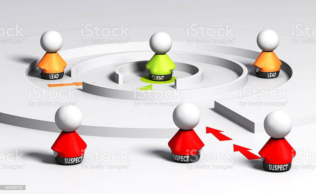Conversion or Sales funnel stock photo