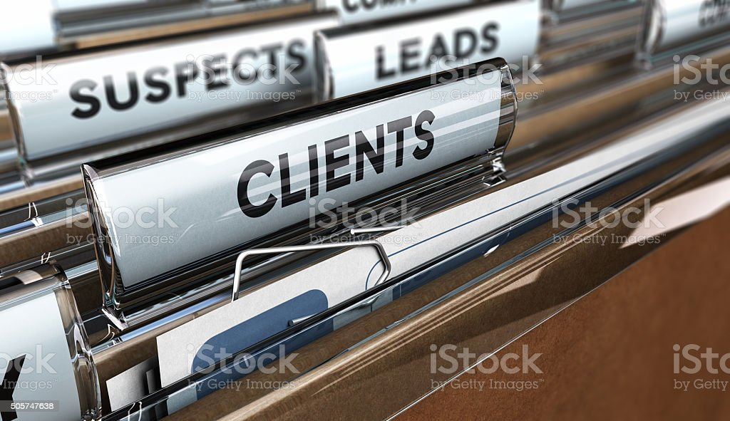 Convert Leads to Customers stock photo