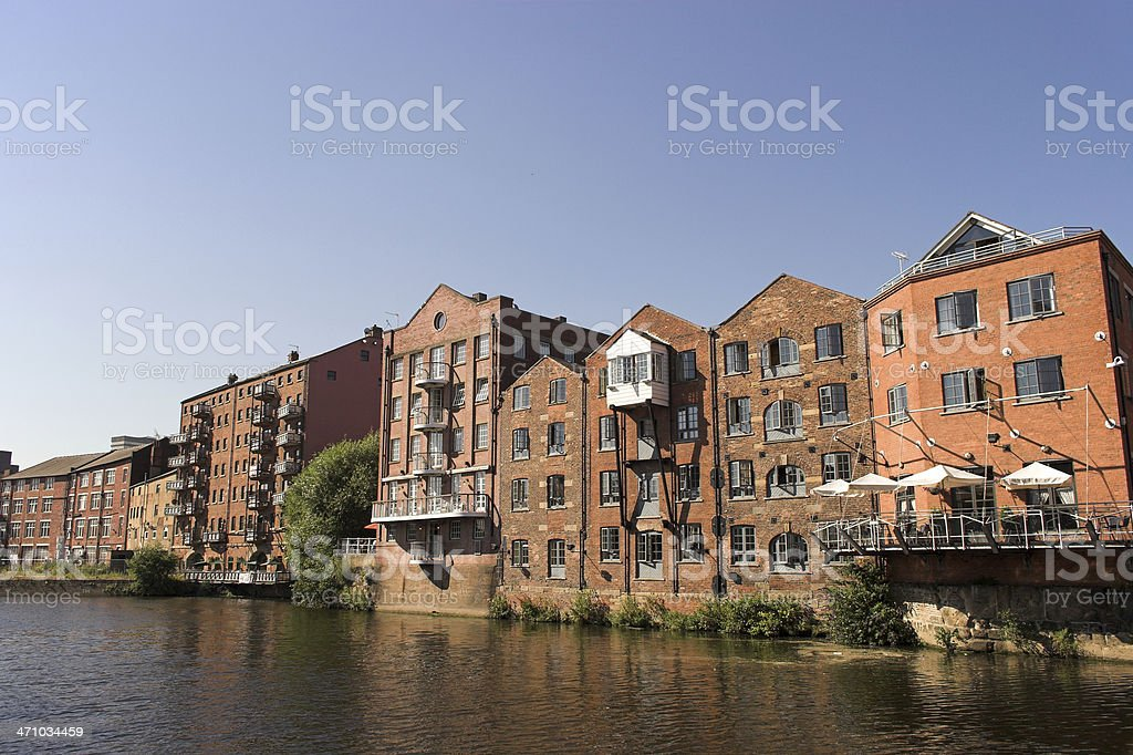 Converted warehouse apartments stock photo