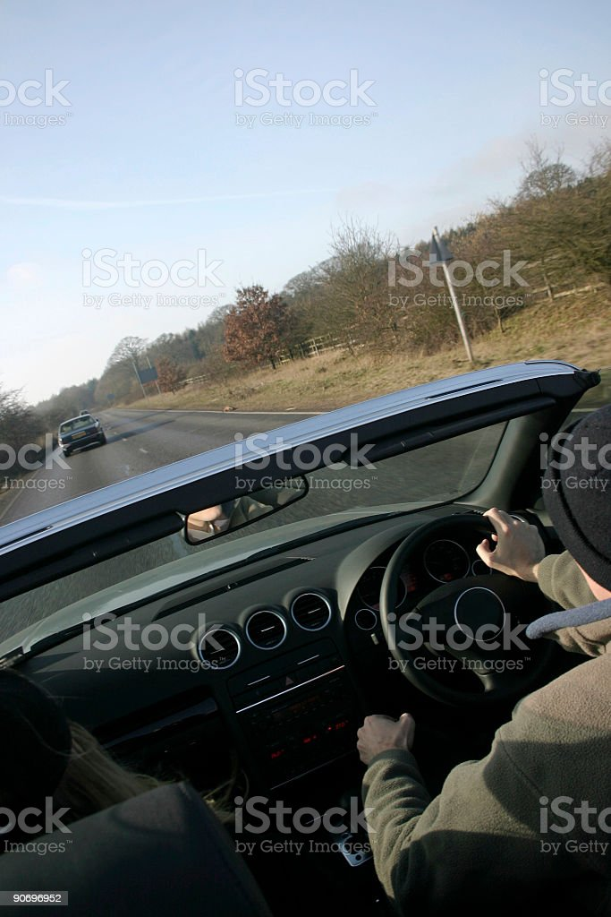 Convertible car stock photo