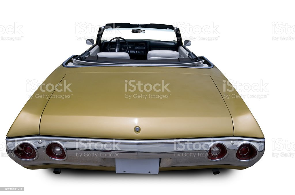 Convertible Chevelle from 1970 - Rear View royalty-free stock photo