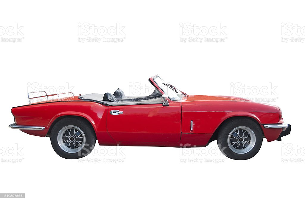 Convertible classic car stock photo