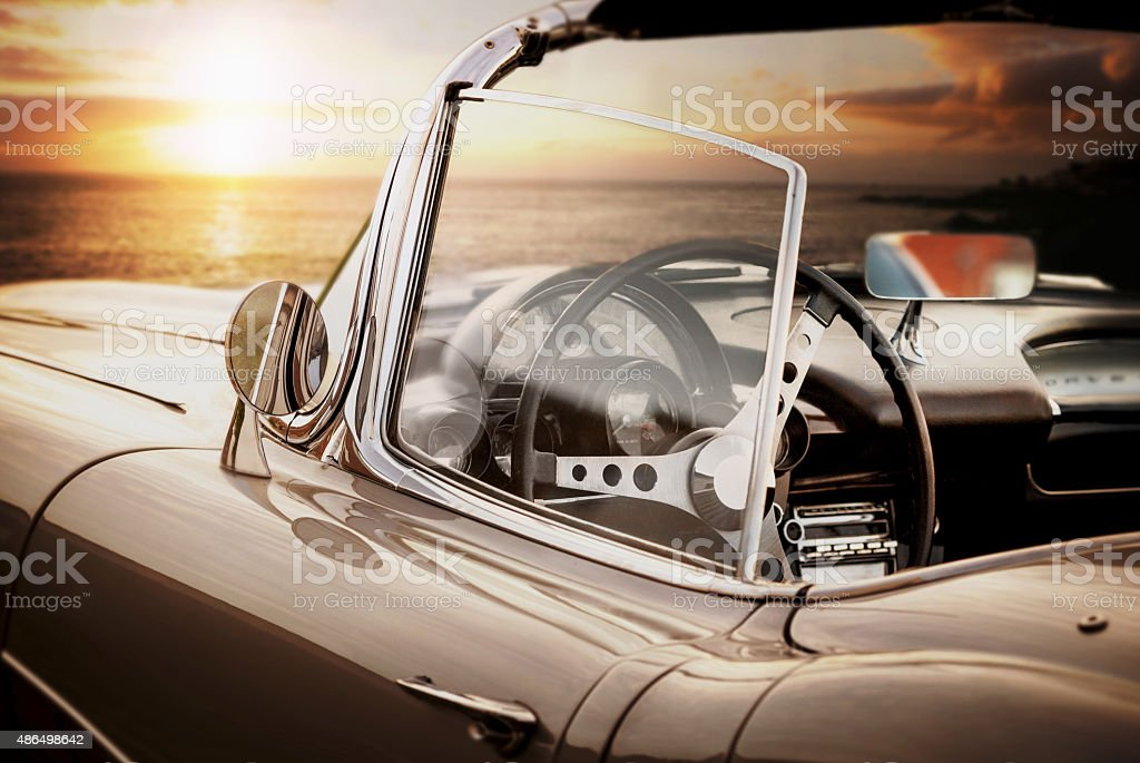 convertible oldtimer - vintage car stock photo