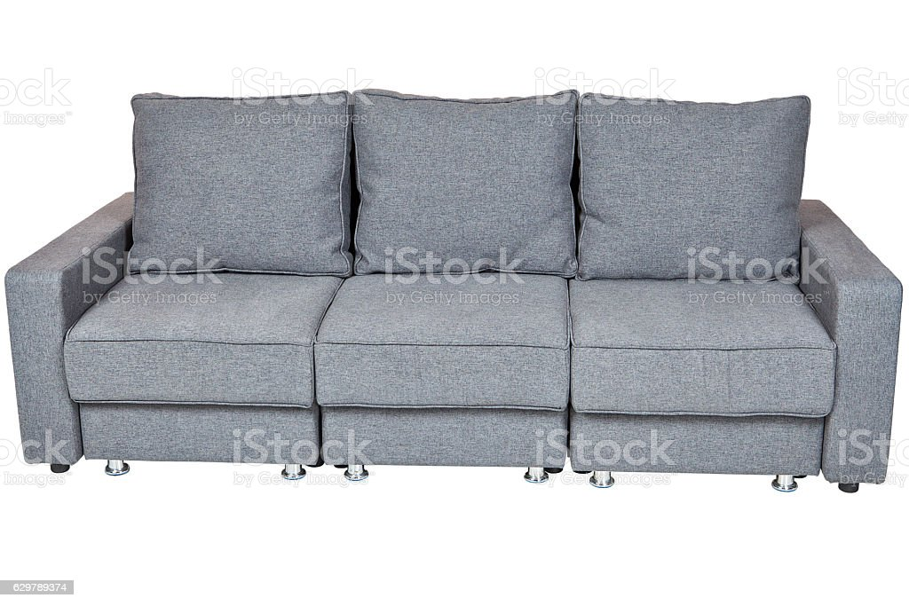 convertible sofa bed with color grey stock photo
