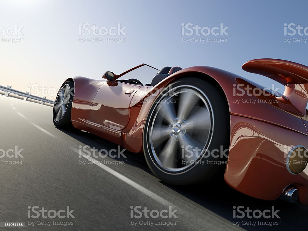 Convertible Sports Car stock photo