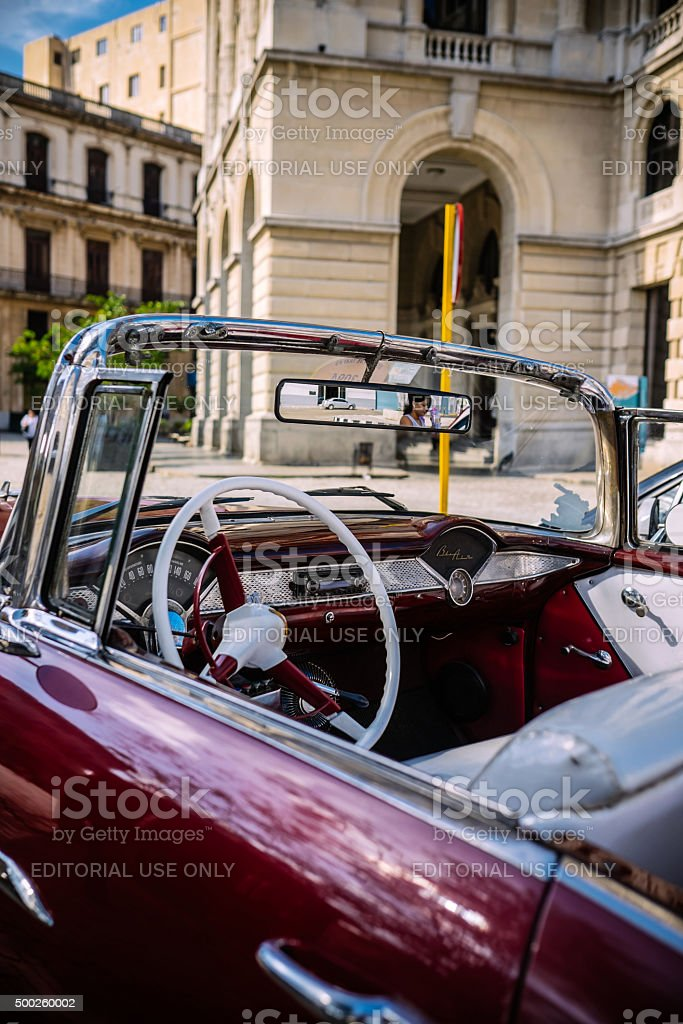 Convertible Taxi in Old Havana stock photo