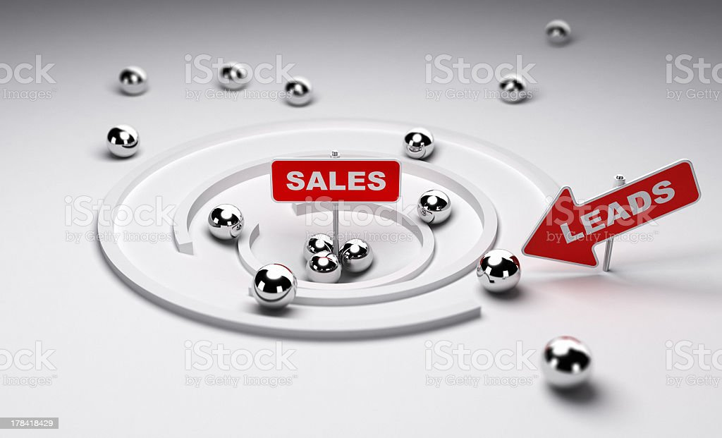 Converting Leads to Sales stock photo