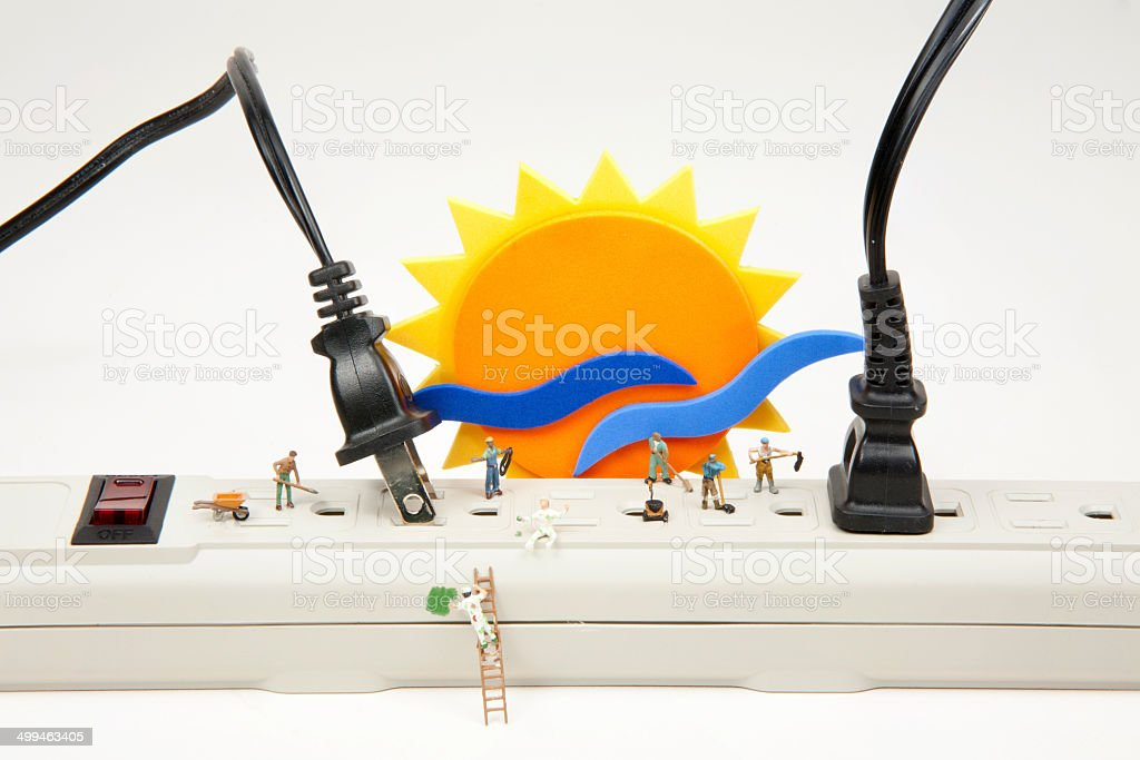 Converting to Green Energy stock photo