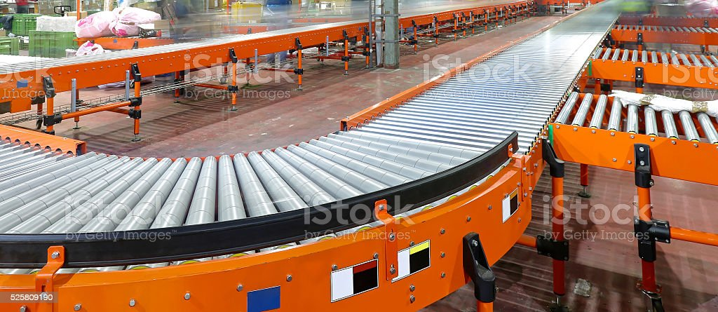 Conveying System stock photo