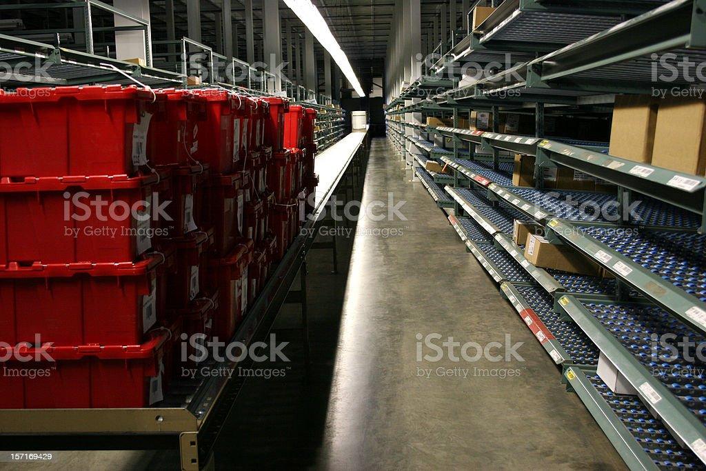 Conveyor and Racks royalty-free stock photo