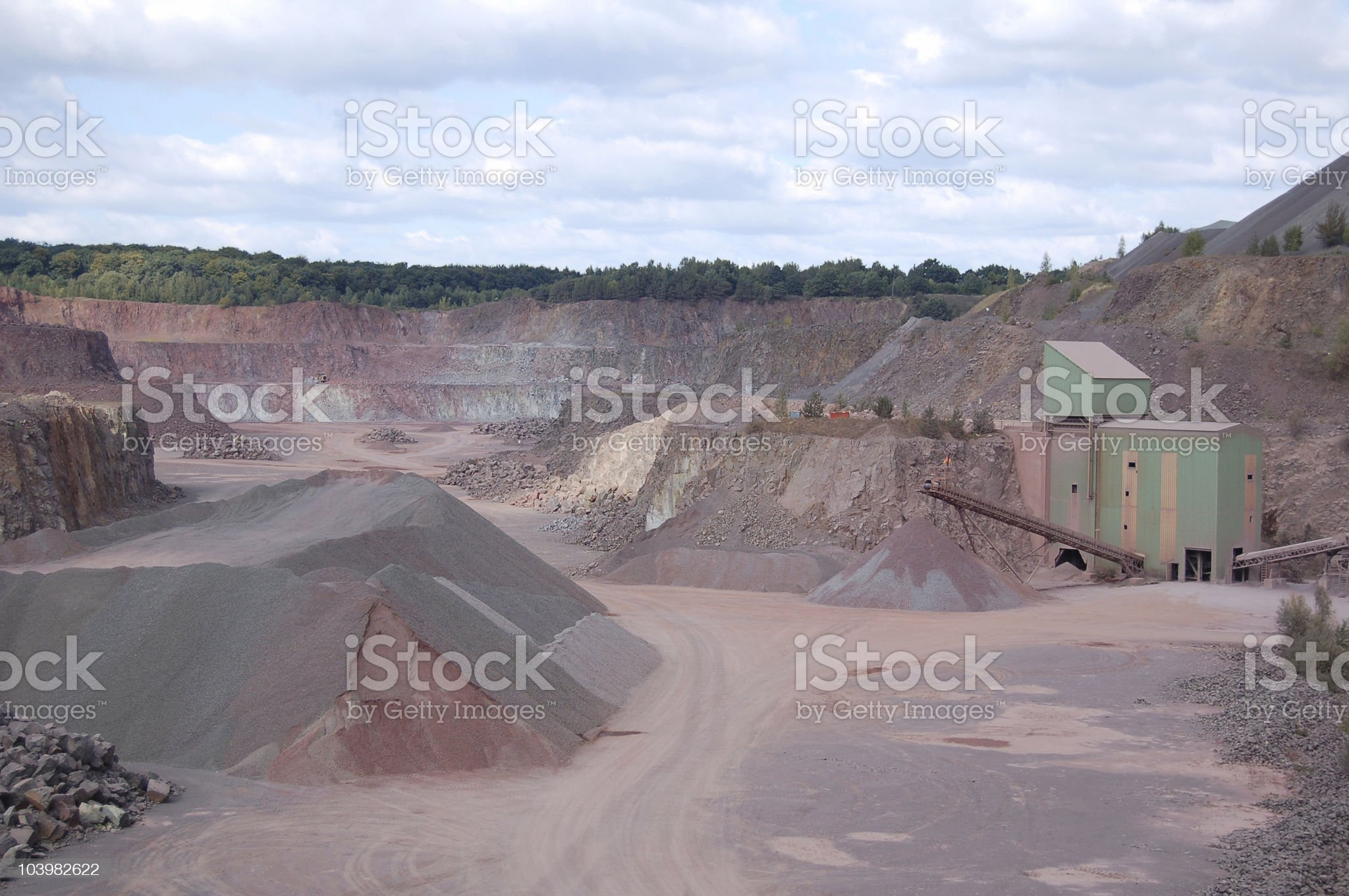 Conveyor Belt in a quarry royalty-free stock photo