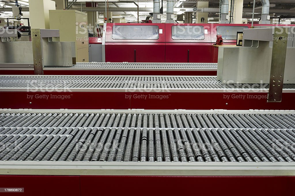 Conveyor Belt in Printing House royalty-free stock photo