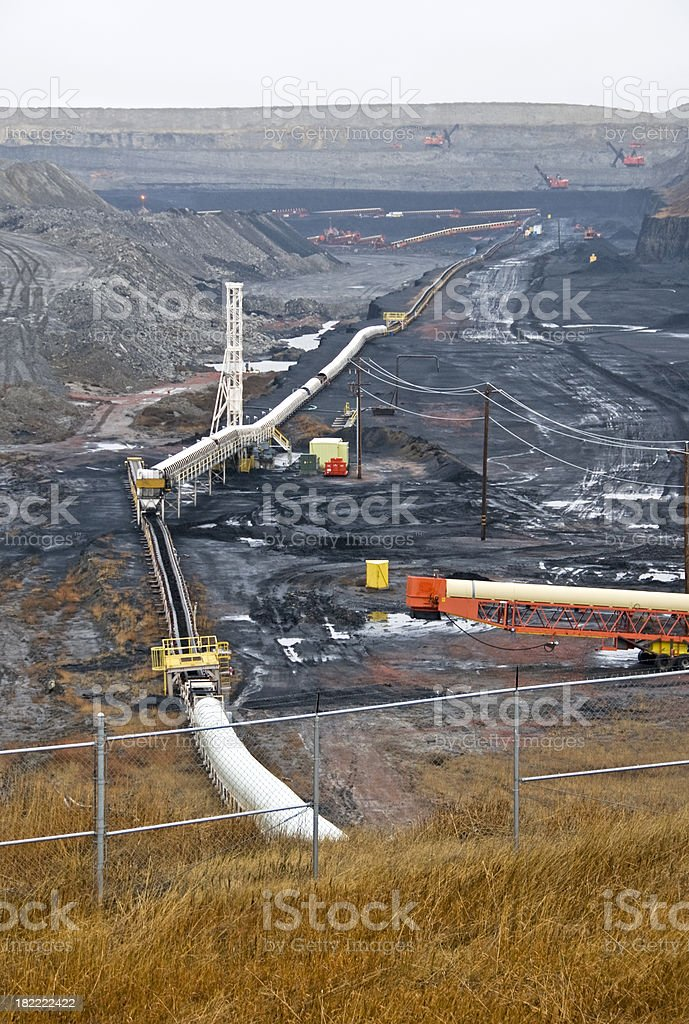 Conveyor belts and coal mine in Wyoming royalty-free stock photo
