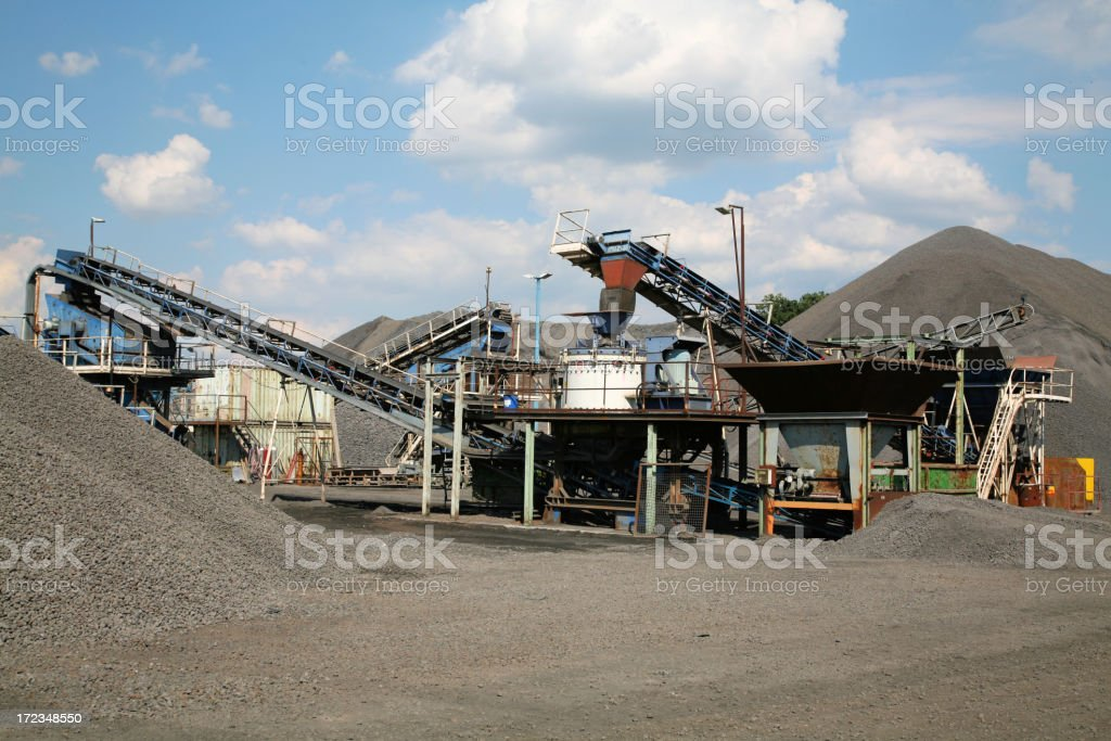 Conveyor belts and crushers royalty-free stock photo