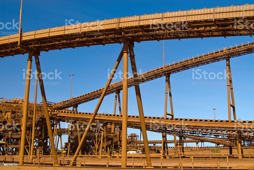 Conveyor  belts on Iron Ore Mine Site stock photo