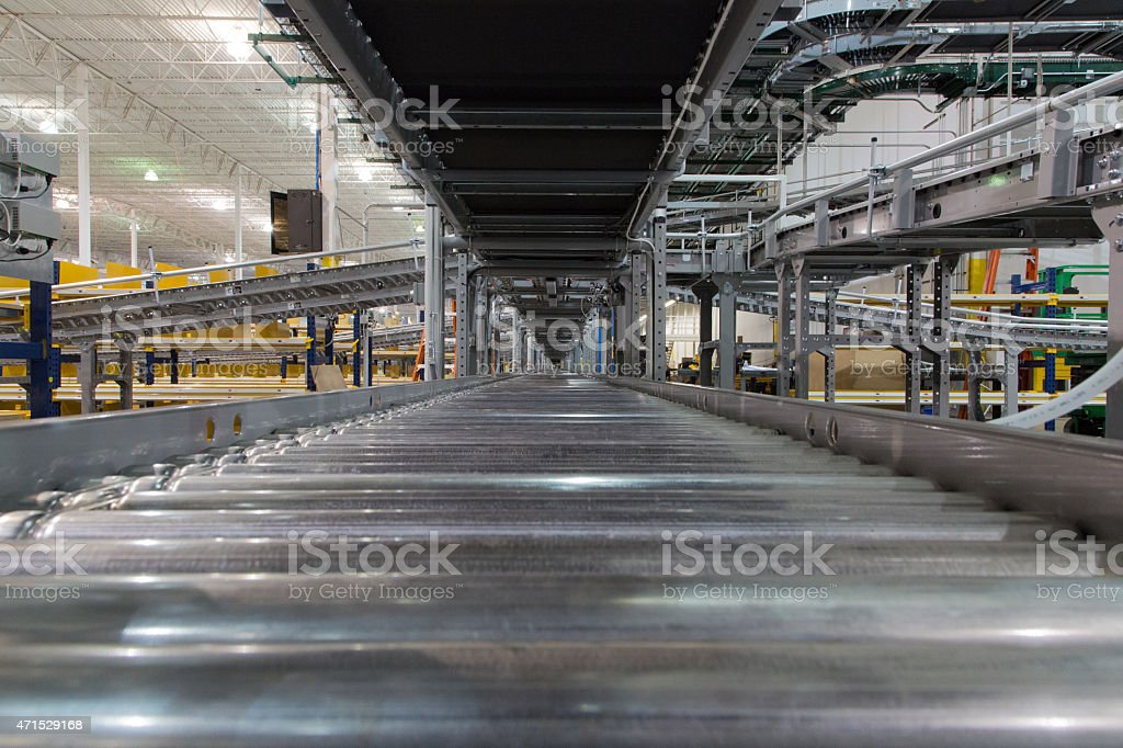 Conveyor First Person View stock photo