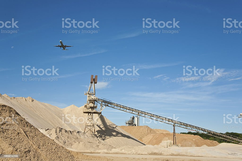 Conveyor on site at gravel pit royalty-free stock photo