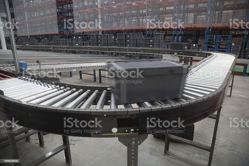 Conveyor System stock photo