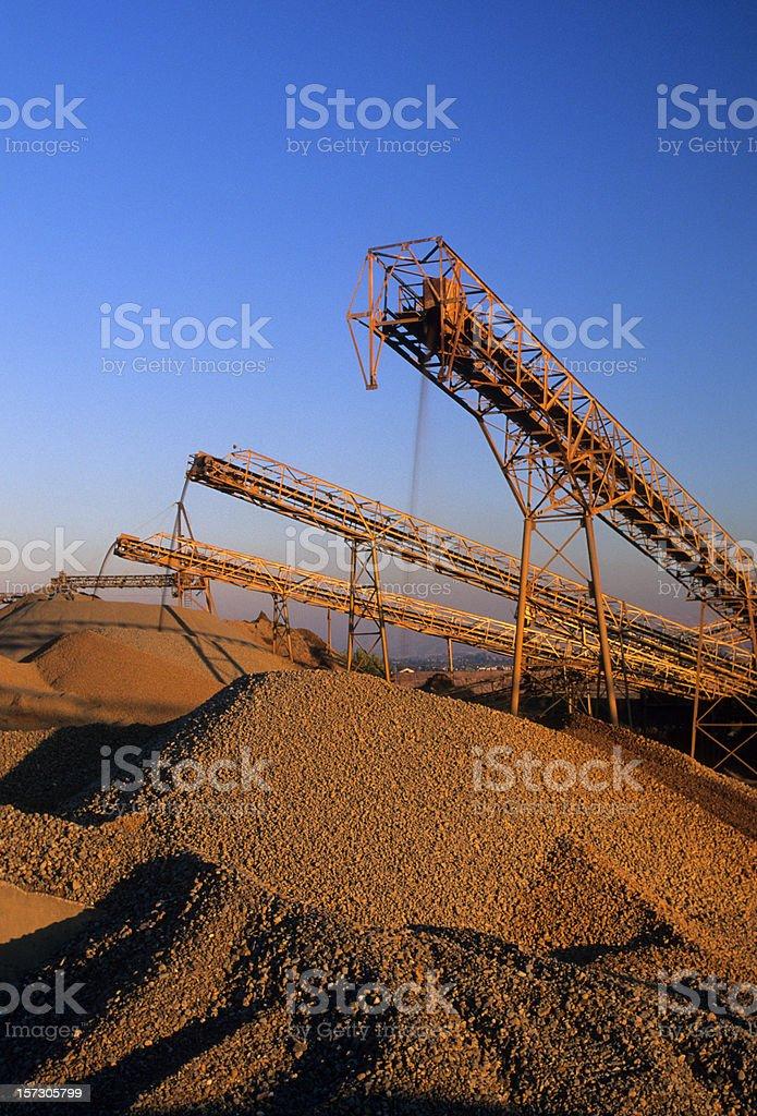 Conveyors, Gravel Quarry royalty-free stock photo