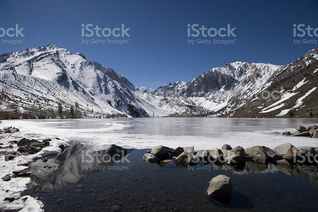 Convict Lake (Wide Angle) stock photo