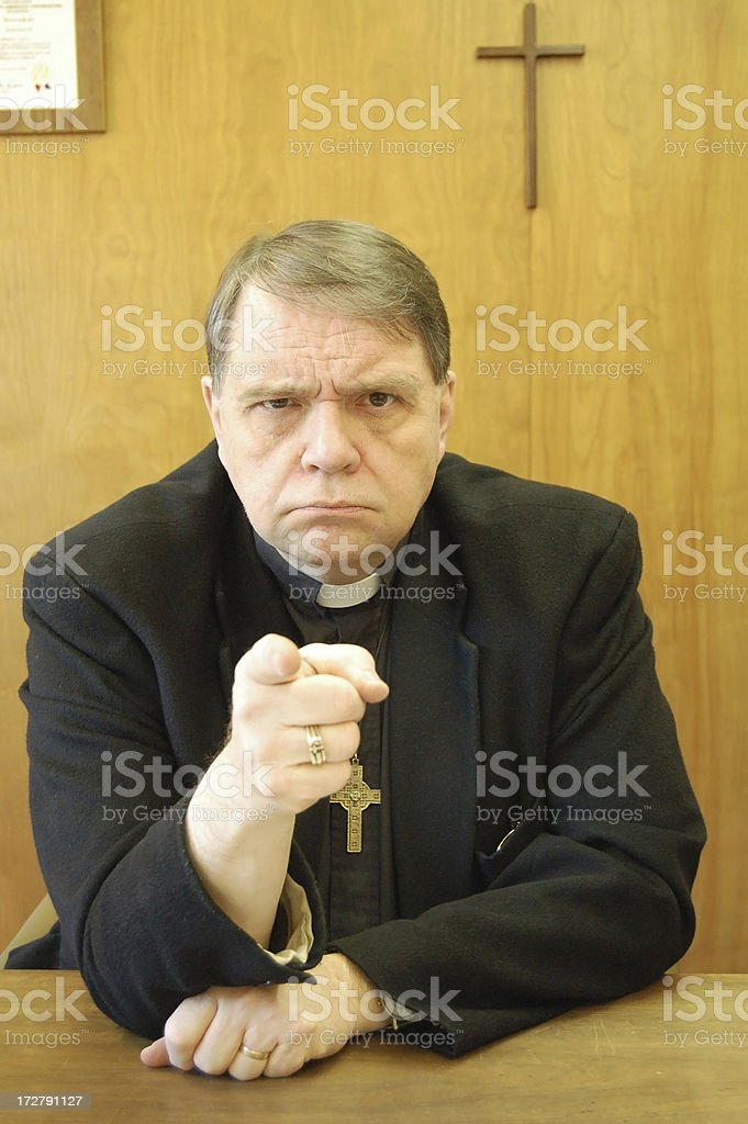 Convicted by Pastor! stock photo