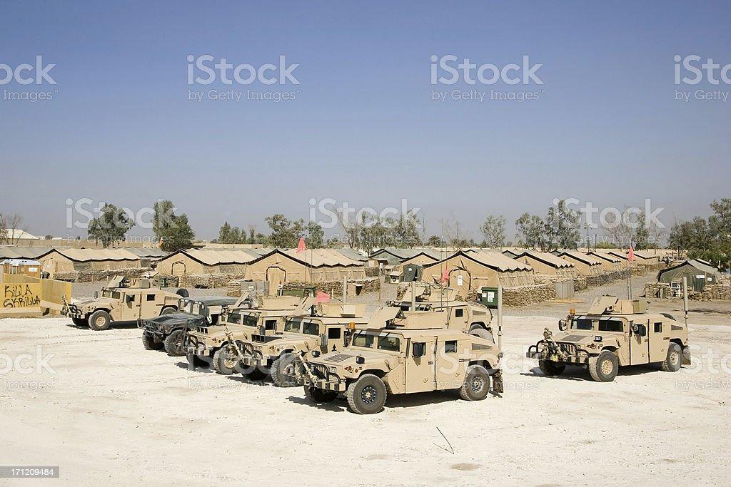 Convoy Camp stock photo