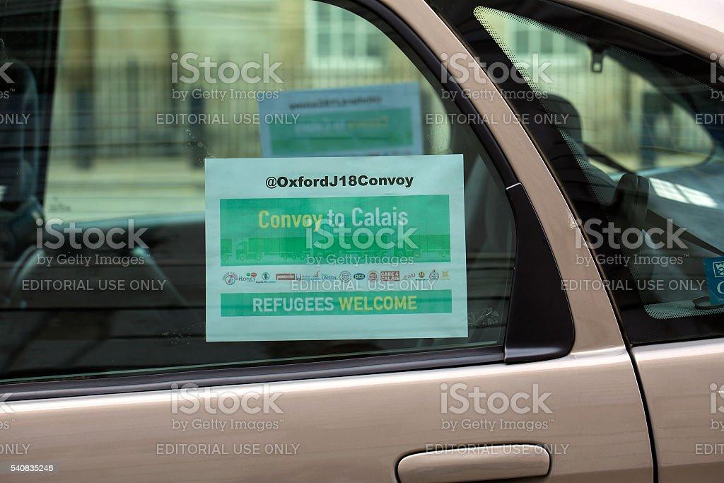 Convoy to Calais stock photo