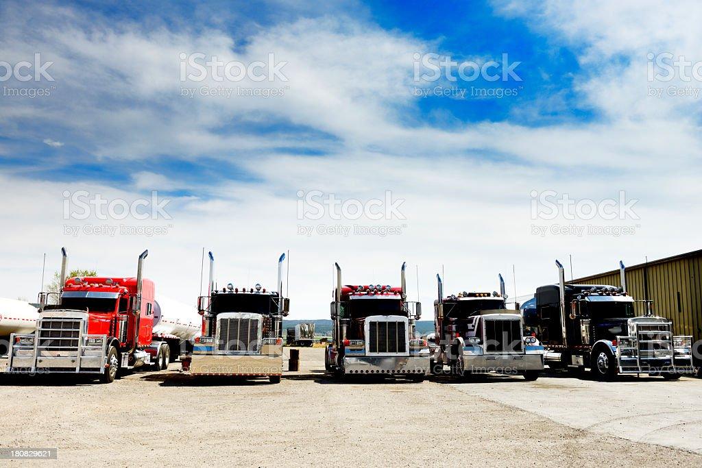 Convoy Truck. California. royalty-free stock photo