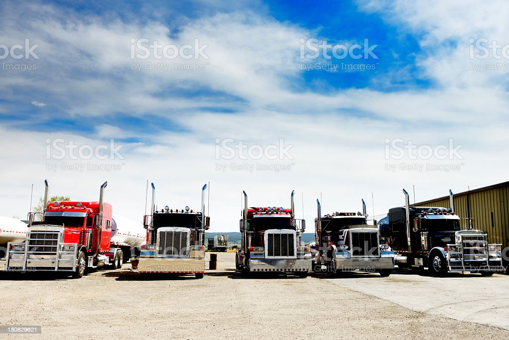 Convoy Truck. California. stock photo