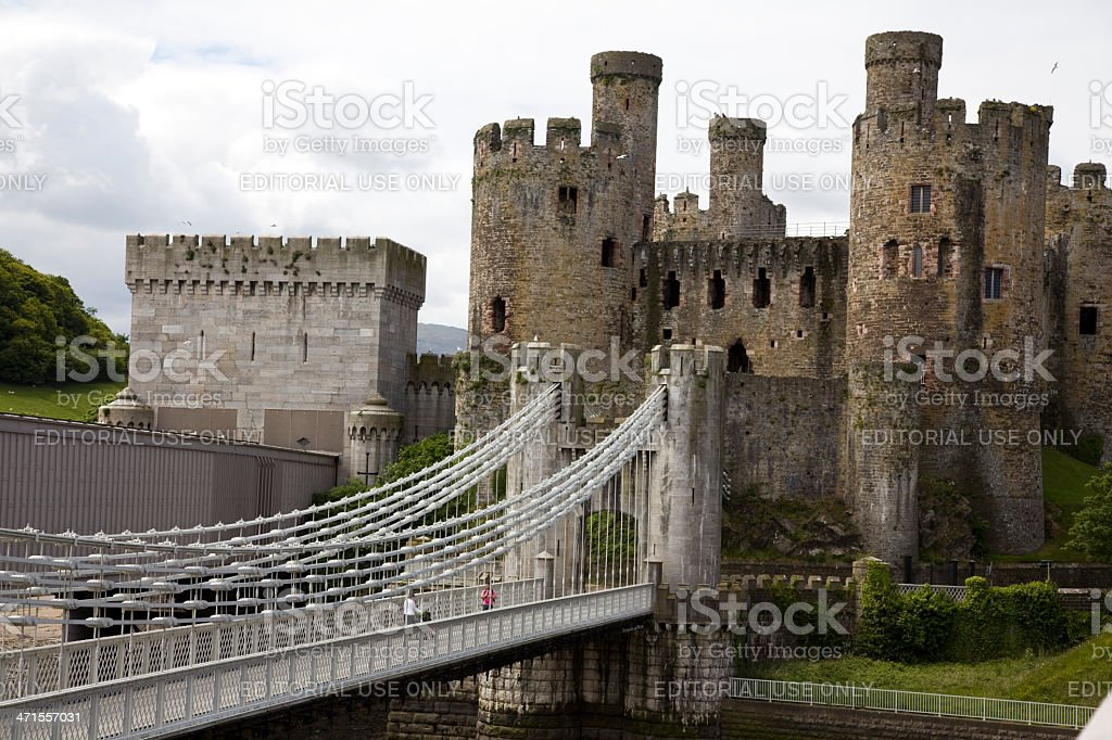 Conwy Castle North Wales royalty-free stock photo