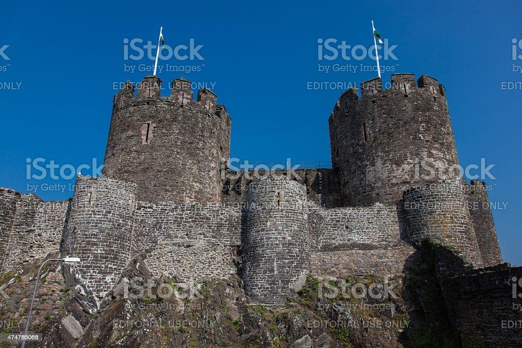 Conwy Castle stock photo